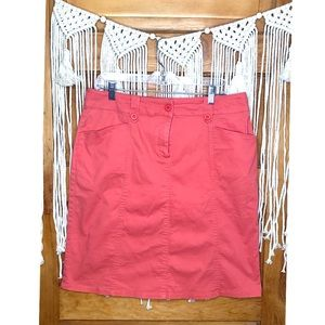 Appleseed's Petite Straight Coral Skirt